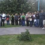 Unas cien personas marcharon para pedir justicia. (Foto www.neuquen24horas.com.ar)