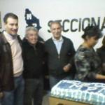 Jorge Sobisch estuvo el viernes en Senillosa. Foto gentileza.-