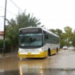 Modifican el recorrido de 4 ramales de colectivos por las lluvias