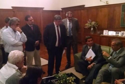 Sapag recibió en Casa de Gobierno a Jorge Capitanich.