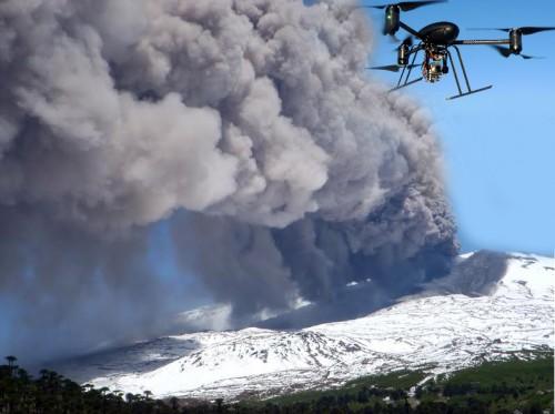 Monitorean con drones el volcán Copahue