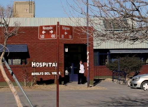 Trabajadores del hospital de Senillosa están de paro por falta de insumnos