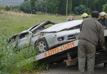 Así quedó el vehículo siniestrado. Foto: SMandesPatagonia.com