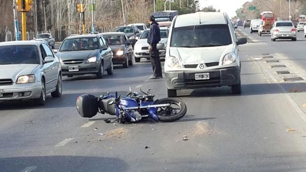 accidente moto batallon 1