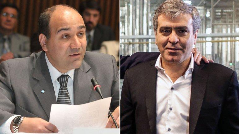 Foto: candidato oficialista Juan Manzur y José Cano, candidato por el Acuerdo para el Bicentenario, fórmula que acompaña el PRO.