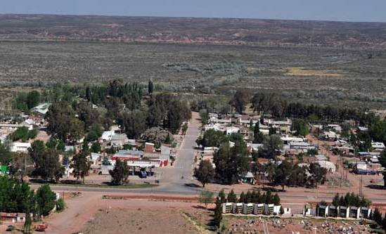 Foto: localidad de Rincón de los Sauces.-