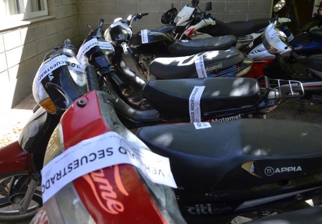 Churrarin informó que durante los controles se secuestraron 28 motos.
