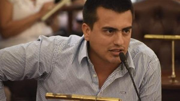 El concejal de Paraná David Cáceres.