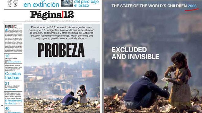 Papel n de p gina 12 por su tapa sobre la pobreza en for Paginas de espectaculos argentina