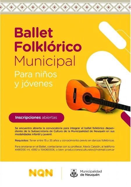 Contin a abierta la inscripci n al ballet folkl rico for Inscripcion jardin 2016 neuquen