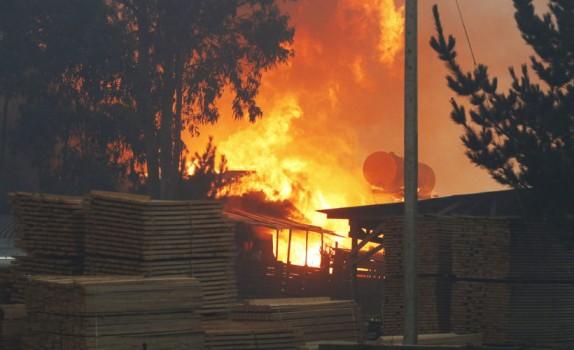SAN RAMON Incendio descontrlolado en forestal Mallorca