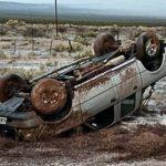 La tormenta y el granizo provocaron el vuelco de una camioneta