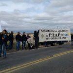 Senillosa: trabajadores de la PIAP realizan un corte sobre la Ruta 22