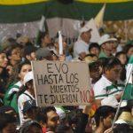 Evo Morales logró una dudosa victoria y la gente denuncia que hubo fraude