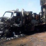 Se incendio un camión que estaba realizando una perforación de agua en Añelo