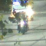 Impactante video: Un delincuente muerto y dos detenidos tras chocar contra un patrullero