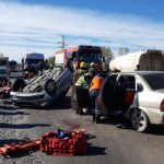 Brutal accidente sobre la Ruta 151 dejó a cinco personas heridas
