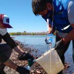 Provincia volvió a monitorear el río Limay