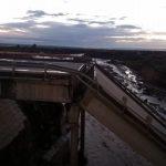 Tormenta desplomó un puente en la Ruta 40 en Mendoza