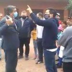 Jorge Capitanich  fue increpado por manifestantes y la respuesta fue culpar a Macri
